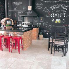 Small Restaurant Design, Grill Restaurant, Barbecue Design, Barbecue Area, Bbq Grill, Billard Bar, Kitchen Decor, Kitchen Design, Cafe Bistro