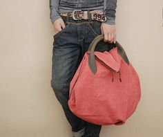 highend leather bag, canvas backpack, top quality handmade shoulder bag clutch, street-attractive bag, unisex leather bags. $66,00, via Etsy.