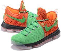 60d2e683814b Nike Zoom KD 9 Lmtd EP Mens Basketball shoes Grass green orange4 Jewels  Clothing