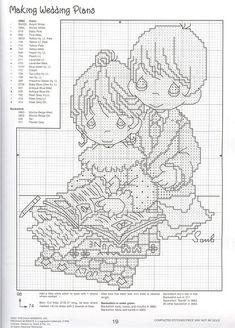 Boda Aniversario Sampler Cross Stitch Chart//patrón-Pdf O Impreso