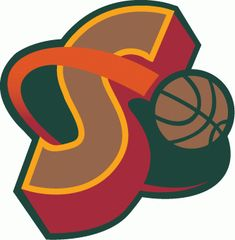 Seattle SuperSonics alternate logo 1995-2001