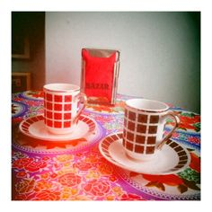 Cups bought... and recognise them, my parents have had them a long time ago..