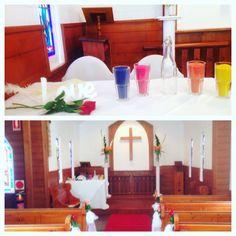 Sand ceremony at St Margarets chapel Gold Coast