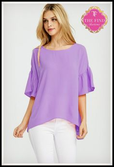 Mallory Top in Lilac