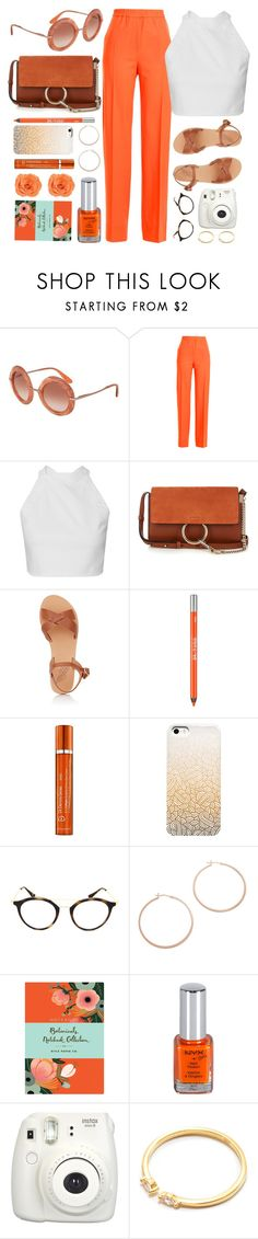 """Orange Muse"" by smartbuyglasses-uk ❤ liked on Polyvore featuring Dolce&Gabbana, Jil Sander, Chloé, Ancient Greek Sandals, Urban Decay, Dr. Dennis Gross Skincare, Ray-Ban, Jennifer Zeuner, Chronicle Books and Fujifilm"