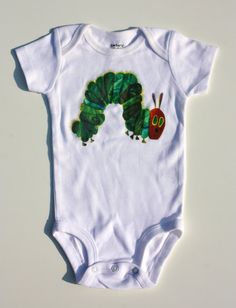 Very Hungry Caterpillar Onesie Or Shirt by odellsisters on Etsy, $15.00