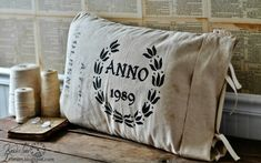 Farmhouse Friday #13 - Grain Sacks, Feed Bags and Burlap Bags - Knick of Time