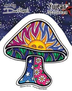 Dan Morris - Sun Mushroom - Sticker