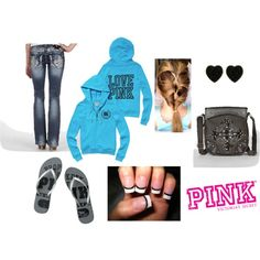 """""""pink + miss me outfit"""" by maddiephillips on Polyvore"""