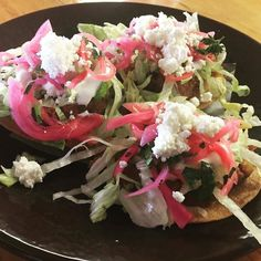 Come and try this new flavors and get today\'s special: SWEET PLANTAIN & CHORIZO TOSTADA (with pickled onions crema queso fresco and shaved lettuce) - 3 mini tostadas for $8.00. @boca31.denton perfect for #tostadatuesday #denton #dentoning #UNT #TWU #foodporn #chefslife #wedentondoit #dentoneats #dentonproud #boca31 #latinflavors #visitdenton #welovedenton #eatlocal #eatfresh #supportlocal #bestofdenton #foodiesindenton