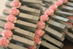 Diy!  Wedding Escort Card Holders, Love Notes from Paris, French Wedding, Vintage Style, Shabby Chic Inspried, Wish Tag Clips, French Market on Etsy, $0.75