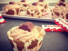 Recette Dessert : Cupcakes kinder maxi par Stephaniieluvshopping