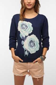 Altru Graphic Floral Sweatshirt    Bought this and wore it with Mint skinnies... so cute