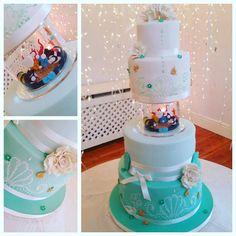 Diving Wedding Cake
