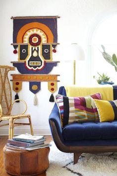 retro eclectic living room