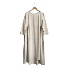 Linen Dress in Natural   ROOLEE