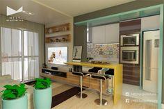 2|2 APARTAMENTO RK - Projeto de Arquitetura de Interiores para cozinha / estar em Criciúma - SC  #cozinha #kitchen #home #estar #arquitetura #interiores #arquiteturadeinteriores #decor #house #apartamento #apartamentopequeno