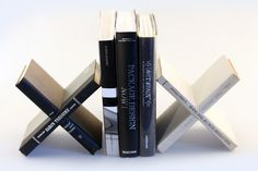Bookends made of, uhm, books.  By designer Daniel Ballou.
