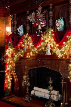See how local designers have transformed this historic Queen Anne–style home with stunning holiday displays