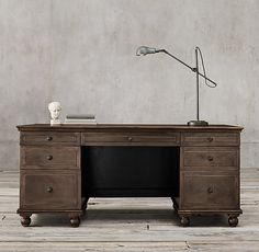 """$2495 Annecy Metal-Wrapped 69"""" Desk"""