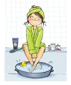 Härligt fotbad...