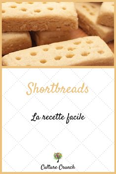 Shortbreads : la recette facile - Shortbread and Sugar Cookies - Galletas Cookies, Cupcake Cookies, Sugar Cookies, No Salt Recipes, Cake Recipes, Cooking Recipes, Biscuit Cookies, Biscuit Recipe, Shortbread