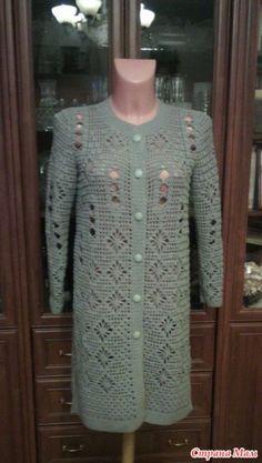 Crochet Coat, Crochet Shirt, Crochet Cardigan, Long Cardigan, Knitting Patterns, Crochet Patterns, Tapestry Crochet, Crochet Designs, Crochet Stitches
