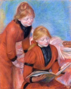 Pierre-Auguste Renoir (French 1841–1919) [Impressionism] Reading, 1889. Private Collection.