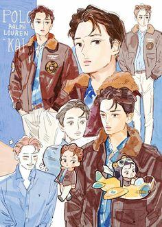 """Kai fanart exo exo """"art"""" exo anime, exo и exo fan art Exo Kokobop, Kpop Exo, Exo Kai, Kai Arts, Character Art, Character Design, Character Ideas, Chibi, Fanart Bts"""
