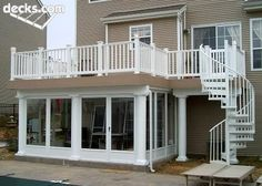 Under deck rooms and spiral deck stairs are two of the best design ideas to maximize your space, outside. | decks.com