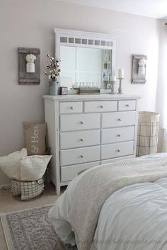 Home Design Ideas: Home Decorating Ideas Bedroom Home Decorating Ideas Bedroom Simply Beautiful By Angela: Farmhouse Master Bedroom Makeover Chic Bedroom Design, Bedroom Makeover, Home Bedroom, Farmhouse Style Master Bedroom, Home Decor, Bedroom Furniture, Modern Farmhouse Style Bedroom, Small Bedroom, Master Bedroom Makeover