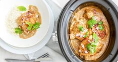When the weather starts to turn, you get out the slow cooker. It& law. From comforting pumpkin soups to creamy chicken dishes and decadent family feasts, here are some of our favourite winter-warmer slow cooker dinners. Best Slow Cooker, Slow Cooker Recipes, Crockpot Recipes, Milk Recipes, Curry Recipes, Salad Recipes, Keto Recipes, Vegetarian Recipes, Chicken Satay