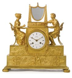 An Empire ormolu mantel clock<br><P>circa 1810, the dial signed<EM> Ravrio Bronzier à Paris</EM> and <EM>Mesnil Hger. </EM></P> | Lot | Sotheby's