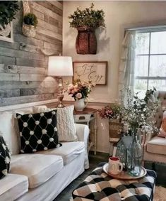 Rustic farmhouse living room design and decor ideas for your home . home accent, Rustic farmhouse living room design and decor ideas for your home . Cottage Living Rooms, Small Living Rooms, Living Room Interior, Home Living Room, Apartment Living, Modern Living, Simple Living, Barn Living, Farmhouse Living Rooms