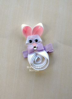 3 inch Easter Bunny Hair Clip Perfect for Easter by blushingbaby, $3.50