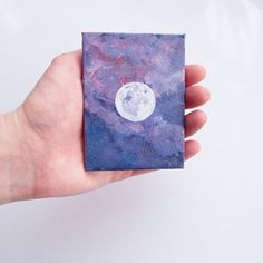 30 DIY Easy Canvas Painting Ideas for Beginners Small Canvas Paintings, Small Canvas Art, Mini Canvas Art, Easy Canvas Painting, Moon Painting, Mini Paintings, Painting & Drawing, Decorative Paintings, Canvas Canvas