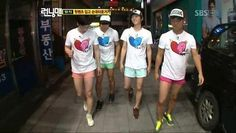 i miss that momment when running man wore hot pants and i miss song joong ki on… Running Man Funny, Running Man Korean, Ji Hyo Running Man, Korean Dramas, Korean Actors, Infinity Challenge, Korean Variety Shows, Baby Songs, Song Joong Ki