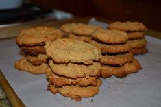 Peanut Butter Cookies. Gluten and sugar free