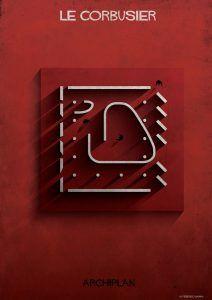 Ilustración Le Corbusier - Federico Babina