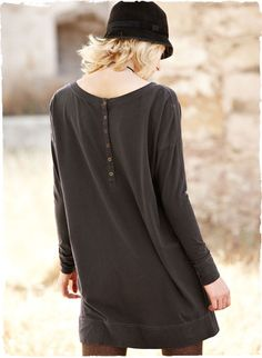 Buttons down the back...love.