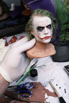 """Artist Bobby Causey is known for making realistic sculptures of movie characters such as the Joker, Jack Torrance from """"The Shining"""" (1980), Superman, among others."""