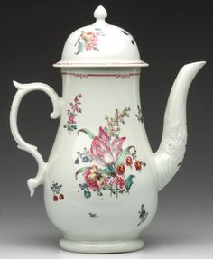 LIVERPOOL PORCELAIN (PHILIP CHRISTIAN) LARGE COFFEEPOT :  1775-1785