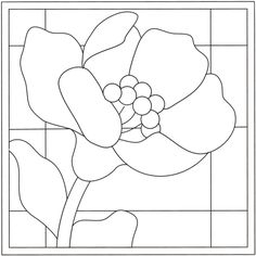 20 new ideas for flowers design pattern templates stained glass Stained Glass Quilt, Stained Glass Flowers, Stained Glass Designs, Stained Glass Patterns, Mosaic Patterns, Quilt Patterns, Painting Templates, Stencil Painting, Mosaic Art