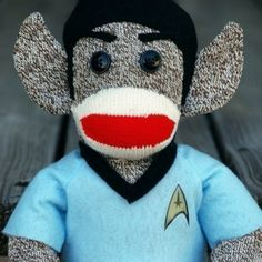 Spock sock monkey - Sock Monkey & Star Trek!