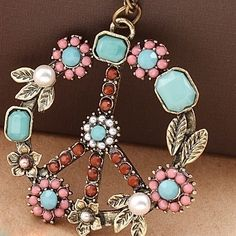 Vintage Peace Sign Necklace