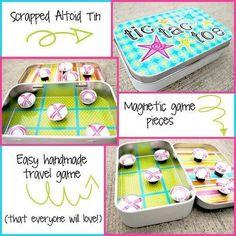 Aus alten Süßigkeiten-Dosen kannst Du ein magnetisches Spiel bauen.