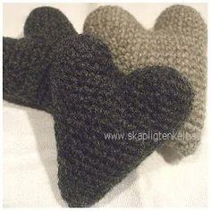 Gratis mönster: Virkat hjärta (svenska)
