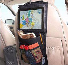 Organizador do carro criança carro ipad pendurado transparente saco do presente sacos de malha elástica portátil de armazenamento de brinquedos saco de carro de volta organizador do assento em Montagem e Suporte - Carro de Automóveis e Moto no AliExpress.com | Alibaba Group