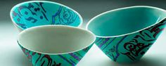 Clay tea bowls