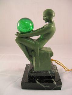 Small Le Verrier Art Deco Lamp